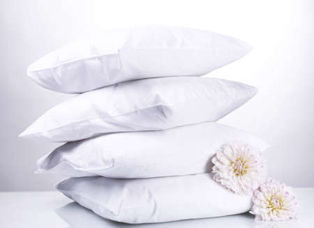 pillows and flowers photo