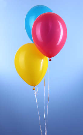 Three colorful balloons photo
