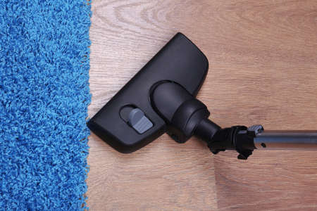 saprophyte: Vacuuming carpet in house Stock Photo