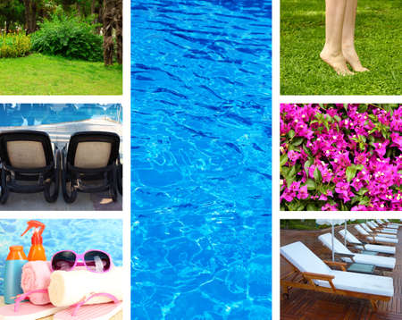 waterpool: Vacation collage Stock Photo