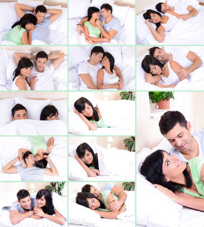 Collage of beautiful couple photo