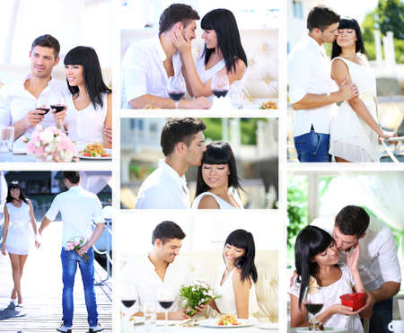 Collage of lovely couple photo