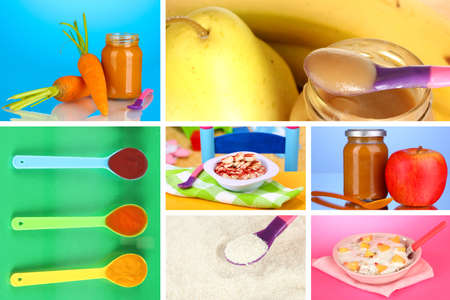 minerals: Baby food collage