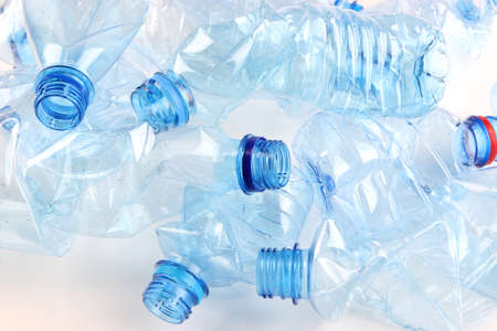 Plastic bottle close up photo