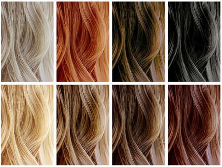 textura pelo: Las muestras de color de pelo