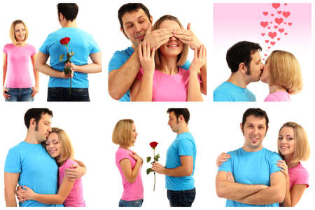 lovely couple: Collage of lovely couple