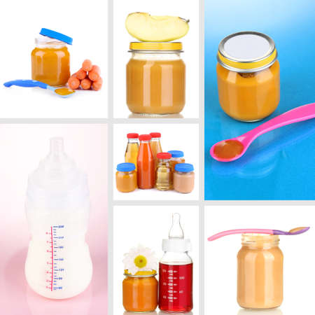 Baby food collage photo