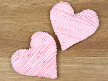 Decorative heart on wooden background Stock Photo - 25879760