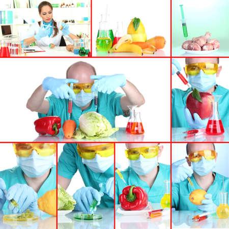 Genetic engineering laboratory. GMO food concept photo