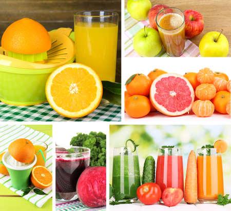 Fresh juice collage photo