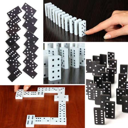 Domino collage photo