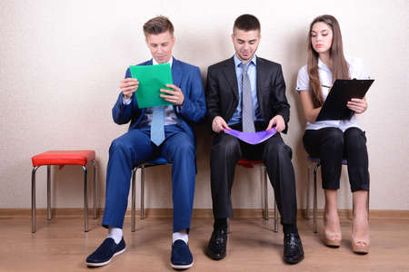 waiting man: Business people waiting for job interview