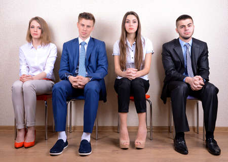 Business people waiting for job interview photo