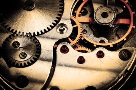 the pinion: Clockwork details, pinions and wheels closeup