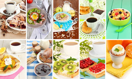 Breakfast collage Stock Photo - 26625977