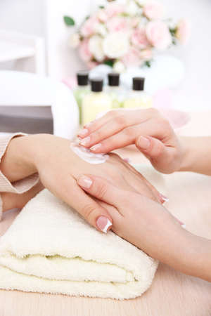 Manicure process in beauty salon close up Stock Photo - 26885382