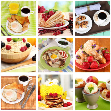 Breakfast collage Stock Photo - 26887240