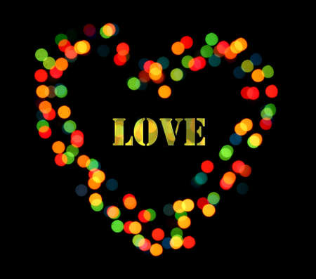 Bright heart bokeh background photo