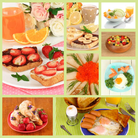 Breakfast collage Stock Photo - 26969925