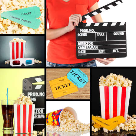 Collage of photos about cinema photo