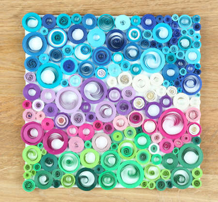 Abstract colorful picture on wooden  Stock Photo