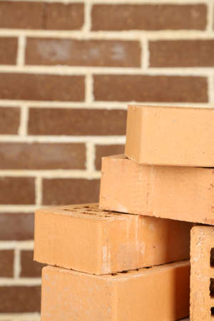 New bricks on brick wall background photo