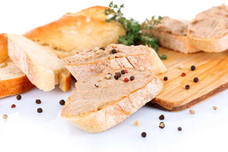 Fresh pate with bread close up