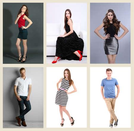 fashion models: Collage of fashion models