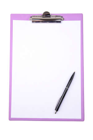 Clipboard isolated on white photo