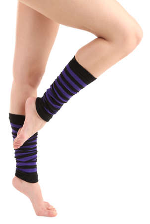 gaiters: Gaiters on perfect woman legs, close up
