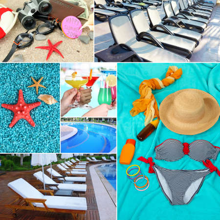 Collage of photos summer holiday photo