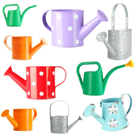 bailer: Watering can collection isolated on white