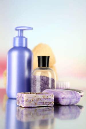 Hygienic equipments, on light background