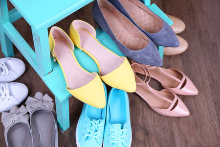 shoe shelf: Shoe shelf with women shoes