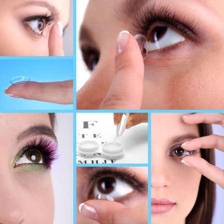Contact lens collage photo