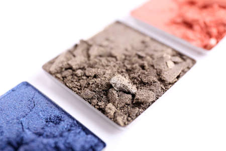 Crushed eyeshadow isolated on white Stock Photo - 28166651
