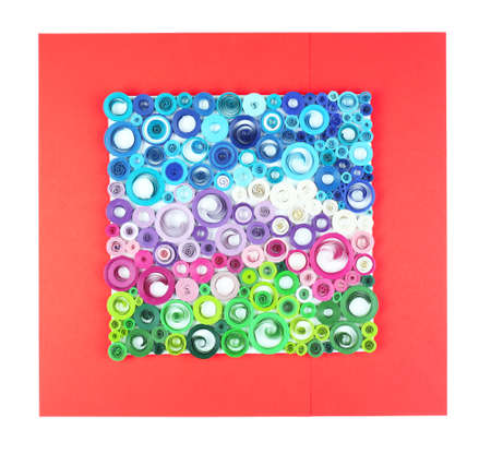 quilled shapes: Abstract colorful picture