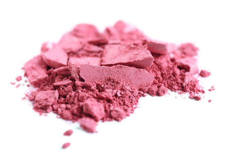 Crushed eyeshadow isolated on white Stock Photo - 28223056