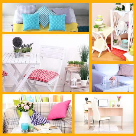 Collage of interior design photo