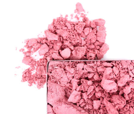 Crushed eyeshadow isolated on white Stock Photo - 28339355
