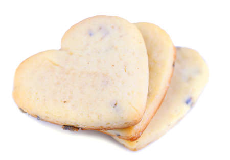 Lavender cookies isolated on white photo