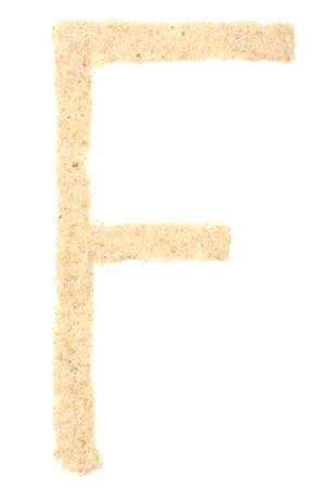 Sand letter isolated on white photo