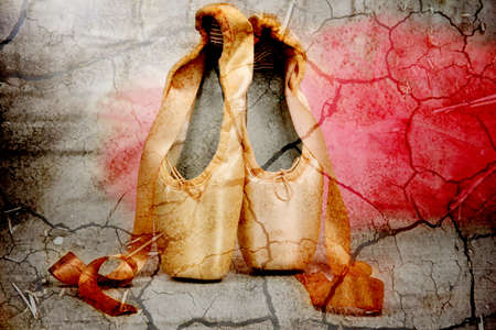 Ballet pointe shoes photo