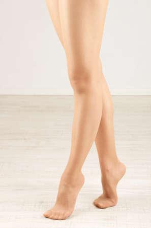 pantimedias: Medias de las piernas de mujer perfectos, de cerca