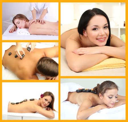 Spa therapy collage photo