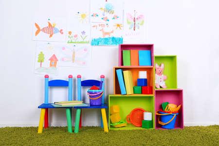 preschool: Interior of classroom at school Stock Photo