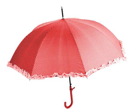 Color umbrella, isolated on white photo