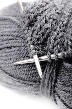 spokes: Knitting with spokes close up