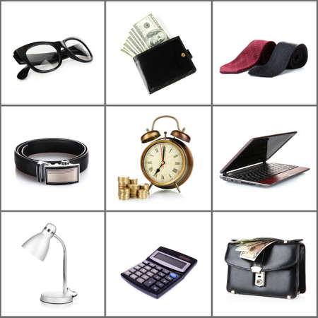 Collage of business stuff photo