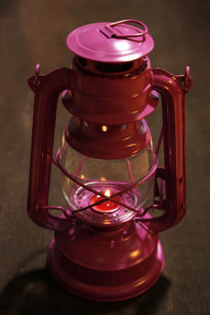 Colorful lantern on wooden  photo